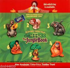 1997 McDonalds Jungle Book Candy Complete MIP Set - Lot 6, Boys & Girls, 3+