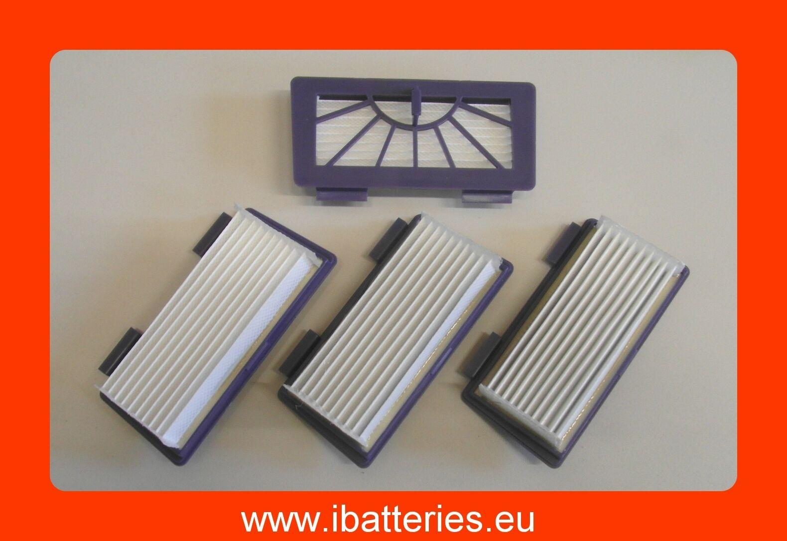 4 HEPA filtres pour Neato XV-25, -21, XV-15, -14, -12, -11 et pour Vorwerk VR100