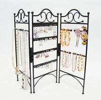 Mango Steam 3-panel Organizer For Hanging Earrings, Bracelets, & Necklaces, Blac