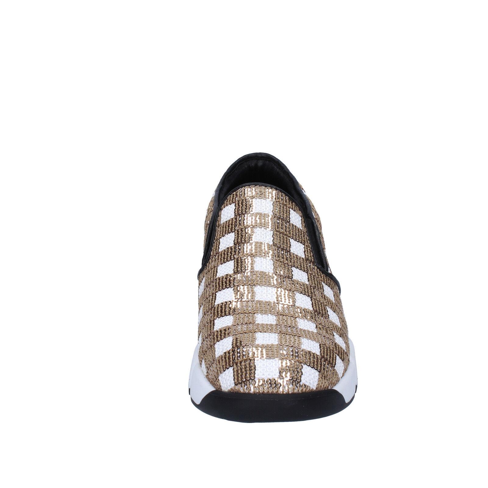 Scarpe Bianco DA DONNA PINKO 36 UE Slip on Bianco Scarpe Oro Paillettes bt250-36 e598cf