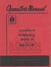 International Farmall Mccormick Super M Mv Tractor Owners Operators Manual Ih