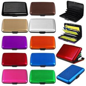 6ebe5057969b Details about RFID Scan Protected Aluminium Security Wallet Credit Card  Holder Hard Case aluma