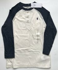 16745b76549e5 item 4 ralph lauren boys long sleeve button top polo shirt   top white blue  age 5 years -ralph lauren boys long sleeve button top polo shirt   top white  ...