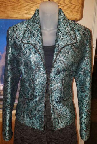 Jacket taglia Hanna Blue Gracie 8 Brocade New qwppIxF