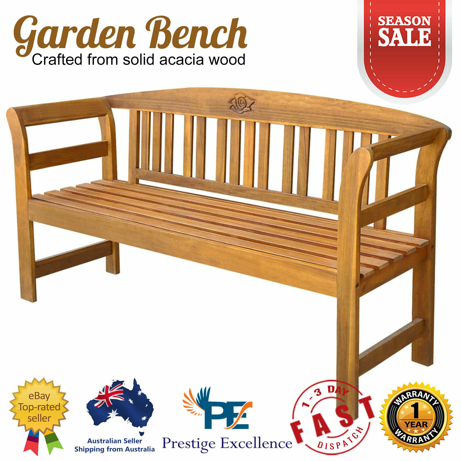 Front Porch Swing Set Outdoor Rustic Wooden Bench Wood Patio Chair 4 Foot Deck For Sale Online Ebay