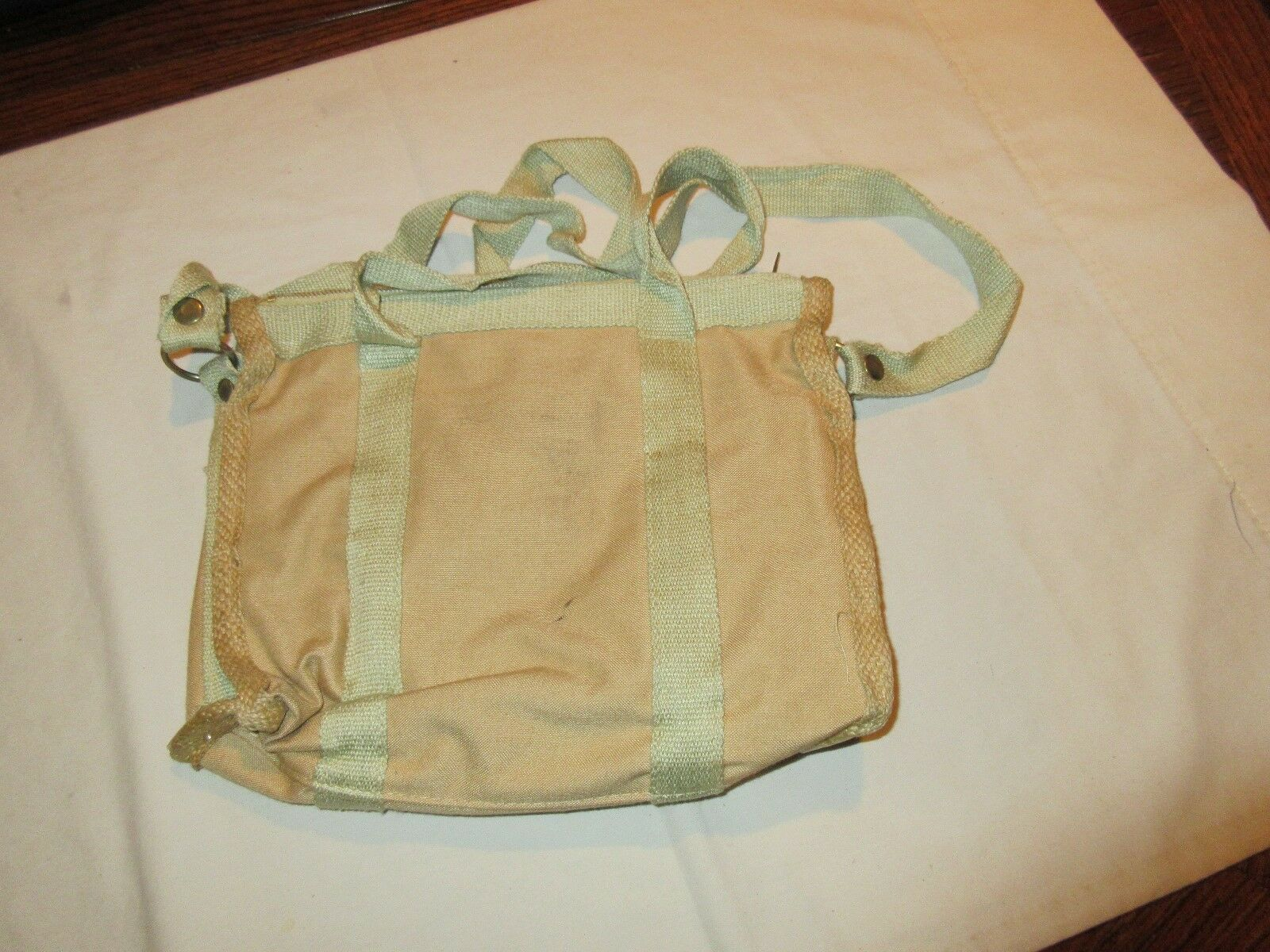 "Ladies Handbag , Vintage , Tan/Green , 11""X9"" , Hand/Sh"