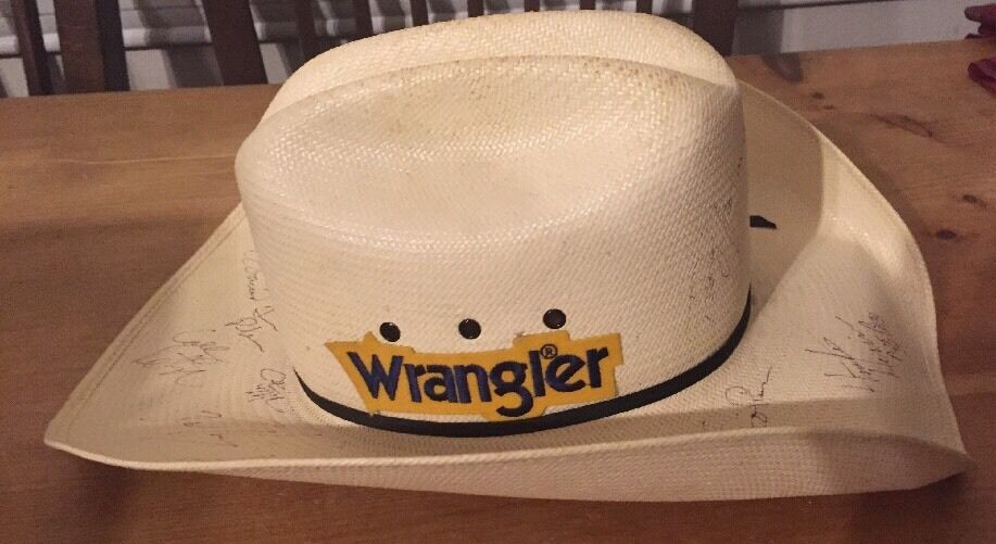 16 Unknown Autographed  Signed Rodeo Stars Cowboy Hat NFR 2006 Bailey Rodeo Rough  online discount