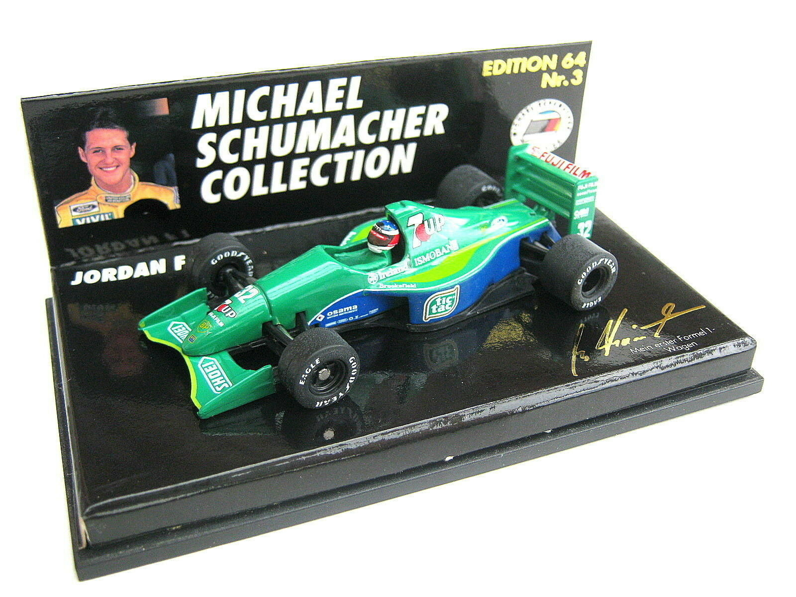 F1 Jordan Ford 191 M Schumacher Spa Belgium 1991 no  3 MSC PMA 510641103 1 64 OVP  livraison gratuite