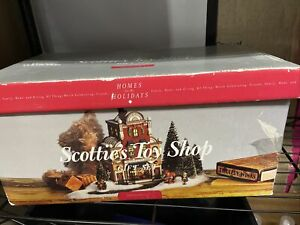 Department-56-The-Heritage-Village-Collection-034-Scottie-039-s-Toy-Shop-Gift-Set-034