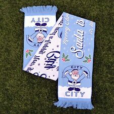 SANTA IS A MANCHESTER CITY FAN FOOTBALL SCARF CHRISTMAS GIFT