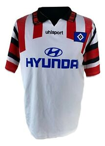 Hamburger-SV-Jersey-Size-L-1995-1996-Uhlsport-TIGERS-Shirt-Jersey-95-96-Hyundai-AT8