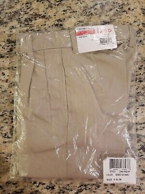 Boys IZOD $24.99 Khaki Uniform//Casual Fl Ft Adj Waist Slim Fit Shorts Size 4-6