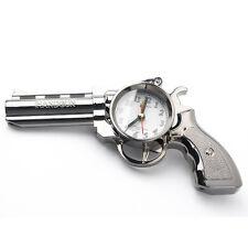 Novelty Pistol Gun Shape Alarm Clock Desk Table Home Office Decor Gifts LW