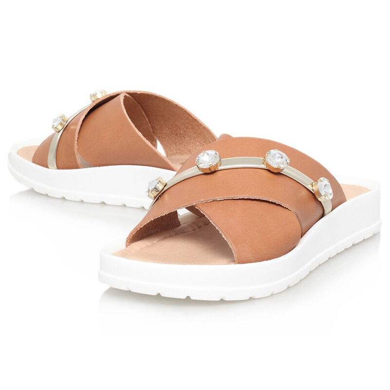 644da0dce MISS KG SANDALS TAN LEATHER CRYSTAL SHOES UK EU 37.. CLOSING DOWN SALE 4  ocakok2663-Women s Comfort Shoes