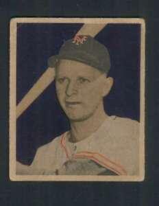 1949-Bowman-2-Whitey-Lockman-VG-VGEX-NY-Giants-103907