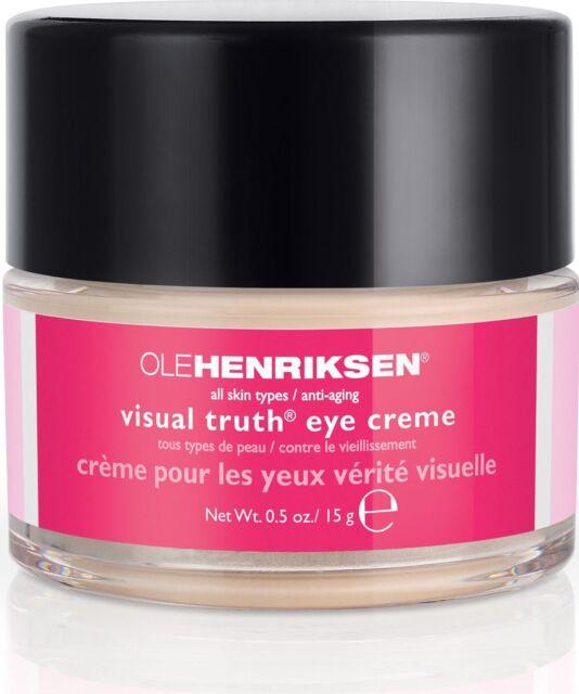 NIB Full Size Ole Henriksen Visual Truth Eye Creme 0.5 oz / 15 g