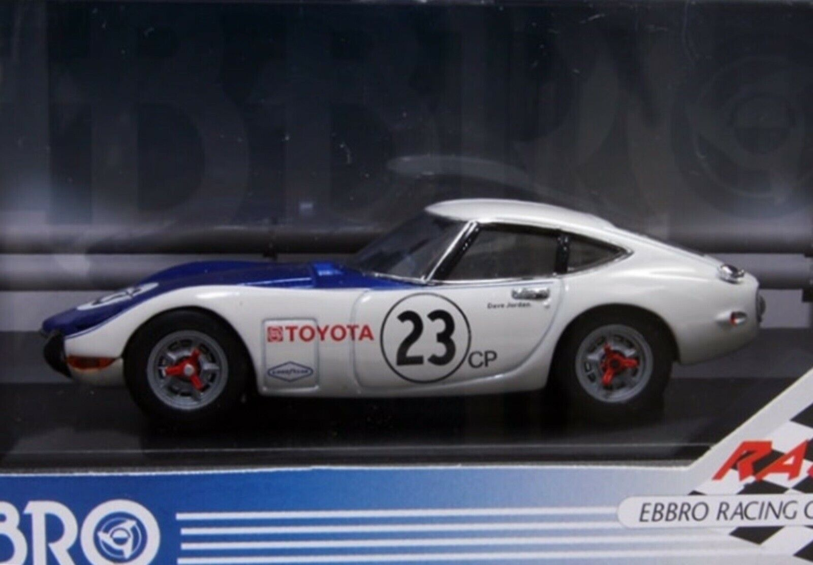 WOW EXTREMELY RARE Toyota 1968 2000GT Jordan SCCA CP Class 1 43 Ebbro-Kyosho