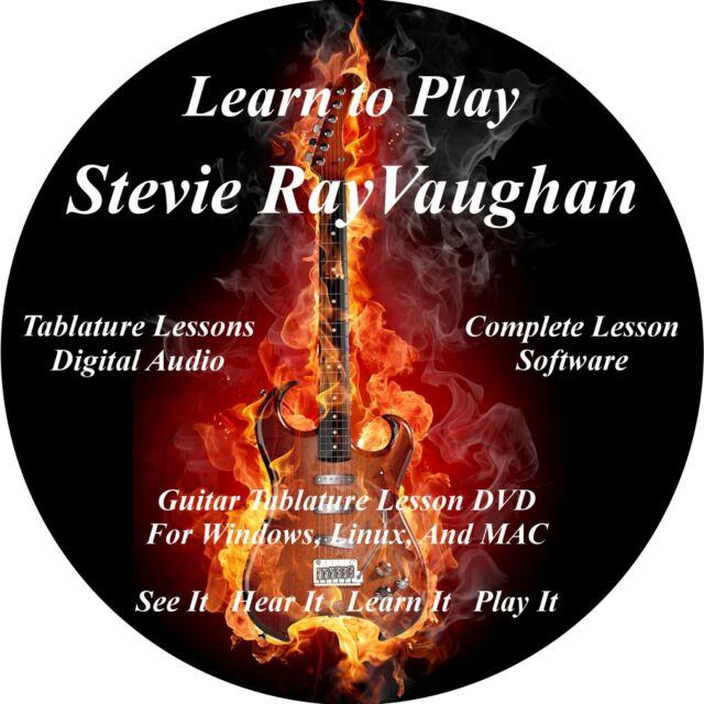 Stevie Ray Vaughan Guitar TABS Lesson CD 65 Songs + Backing Tracks + BONUS!