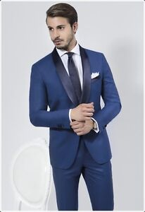 Details about Custom Made Mens Slim Fit Wedding Suits Groom Tuxedos Suits 2  Piece Suits Blazer