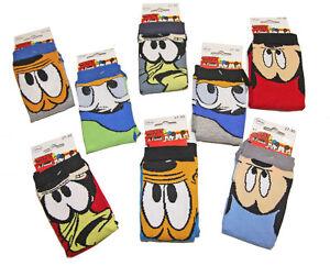 Lot-4-Paires-de-Chaussettes-Enfants-Garcons-Disney-Mickey-Donald-Pluto-Dingo