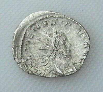 Collectable 253-268ad Silver Based Antoninianus Statue Of Mars With Spear Nourishing Blood And Adjusting Spirit Coins