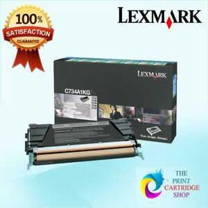 New-amp-Original-Lexmark-C734A1KG-Black-Toner-C734-C736-X734-X736-X73-8K-Pages