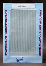 """SuperScale Decals PS-4 1/64"""" SILVER STRIPES pin striping mint"""