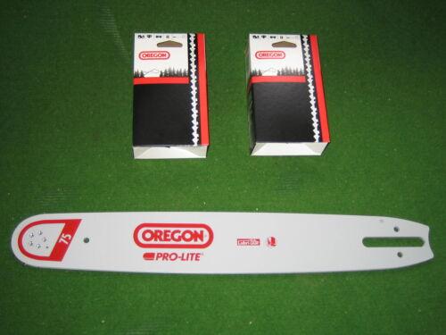 2 Oregon Vollmeisselketten für Stihl Motorsägen 3//8 Oregon Schwert 40 cm