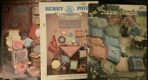 Lot-Of-3-Chicken-Scratch-Embroidery-Instruction-pattern-Booklets
