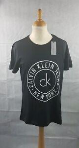 Calvin-Klein-Men-039-s-Black-Logo-Crew-Neck-T-Shirt-Short-Sleeve-Tee-Size-L-BNWT
