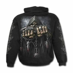 Spiral-Direct-Game-Over-You-Lose-Skeleton-Gothic-Black-Printed-Hoodie-Hooded-Top