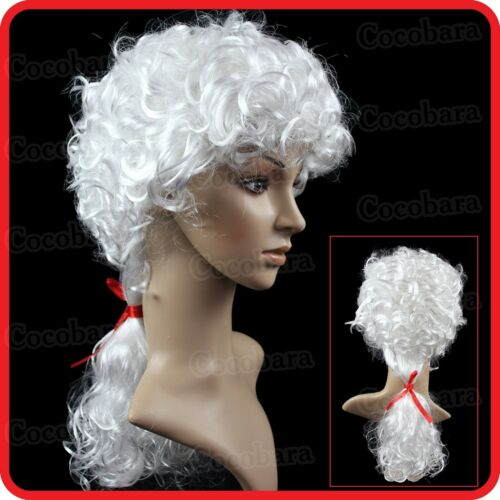 WHITE UNISEX LAWYER BARRISTER COURT JUDGE ROYAL NOBLE WIG-VAMPIRE-PARTY-COSTUME2