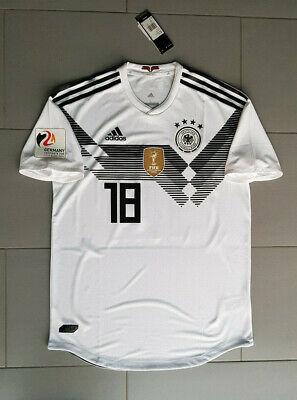adidas DFB Deutschland Trikot WM 2018 Nr.18 Kimmich Gr. L climachill EM Patch | eBay