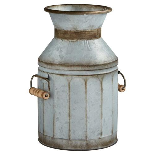 Antique Vintage Style Milk Jug Shabby Rustic Galvanized Livingroom Home Decor