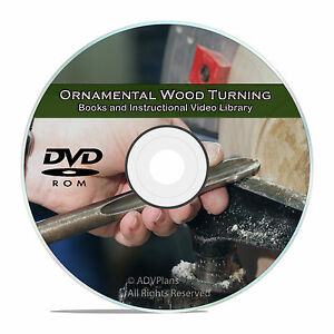 Details About Ornamental Wood Turning Projects To Use Your Home Woodworking Lathe Cd Dvd V62