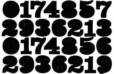 N-517 Zahlen Nummern schwarz 38 mm 1 Bogen 27 x 18 cm Basteln Aufkleber Sticker
