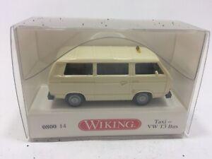 Wiking-VW-T3-Bus-1979-034-TAXI-034-in-hellelfenbein-OVP