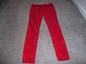 Bdg Alta Subida Cigarrillo Roja De Pana Pantalones Talla 30 Ebay