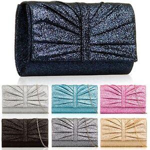 Bruids Dames Medium Sparkle Handtas Prom Dames Clutch Avondfeest Glitter Bag LRScjq534A
