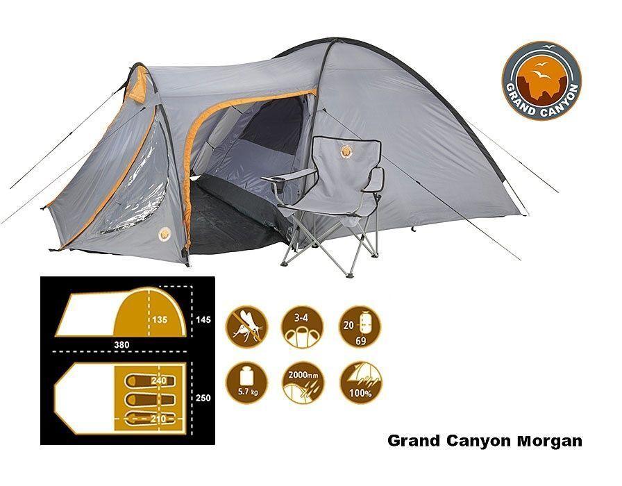 Grand Canyon Morgan erweitertes Kuppel Zelt für viel  Platz 3 Pers. leicht Aufbau  shop online today