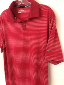 Men-s-Medium-M-NIKE-GOLF-TOUR-PERFORMANCE-Polo-Shirt-DRI-FIT-PINK-429