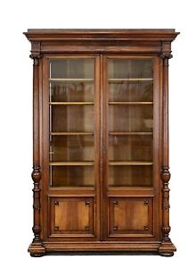 1111025 :Large Antique French Renaissance Carved 2 Door Bookcase ...