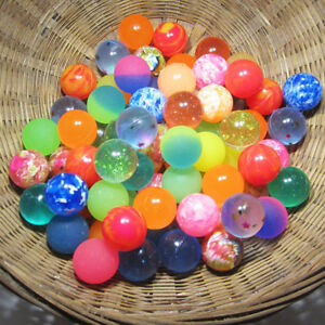 Lots 10Pcs 27mm Bouncy Ball Bouncing Balls Rubber Elastic Outdoor Kid Toys