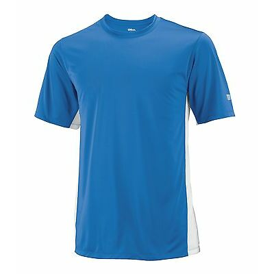 Wilson Funktions Shirt On Court Crew blau - T-Shirt ideal für Teams