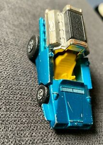 Vintage-1972-MATCHBOX-Superfast-42-Tyre-Fryer-Blue-Yellow-Interior-Toy-Car