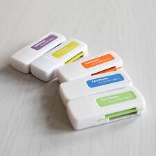 2pcs 4 in 1 Memory Multi Card Reader USB 2.0 for SD/TF/T-Flash/M2 Card E8J