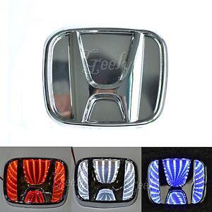 3d Led Car Decal Tail Logo Light Badge Lamp Emblem Lights For Honda