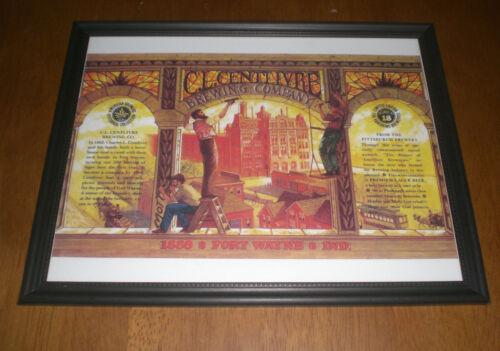 CENTLIVRE BREWING COMPANY FORT WAYNE BEER FRAMED AD PRINTS L YOUR CHOICE C