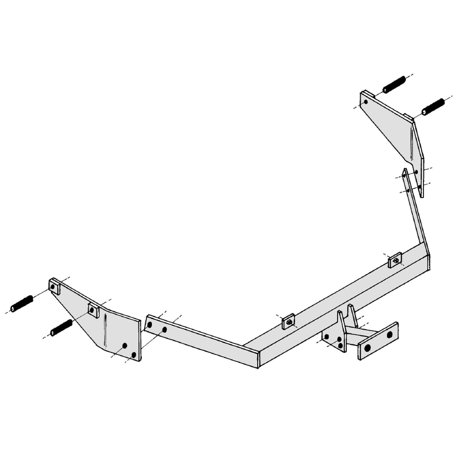 details about towbar for peugeot partner combi 1996 2008 flange tow bar Dual Fuel Wiring Diagram