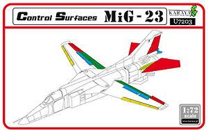 KARAYA 1//72 MiG-23 control surfaces re-edition